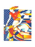 Female Field Hokey Players Print by David Chestnutt