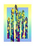 Colorful Asparagus Art by David Chestnutt