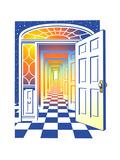 Open Door and Corridor Posters by David Chestnutt