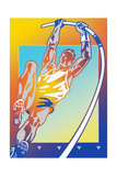 Athlete Pole Vaulting Prints by David Chestnutt