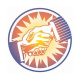 Handshake in Circle Prints by David Chestnutt