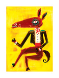 Donkey Wearing Jacket with Epaulettes Posters by Lee Hodges