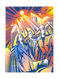 Business People in Downtown Prints by David Chestnutt
