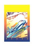 Airplane in Flight Art by David Chestnutt