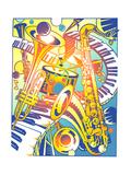 Various Musical Instruments Art by David Chestnutt