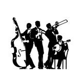 Four Men Playing Music Prints by David Chestnutt
