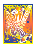 Brass Instruments Posters af David Chestnutt