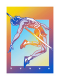 Athlete Jumping over High Jump Posters by David Chestnutt