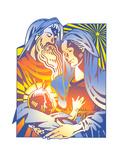 Illustration of Nativity Scene Art by David Chestnutt