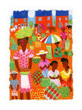 Traditional Outdoor Food Market in Madagascar, Africa Prints by Chris Corr
