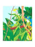 Three Chameleons in Tree Kunstdrucke von Sarah Jackson