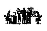 Business People Working in Office Kunst af David Chestnutt