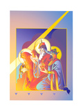 Three Wise Men Offering Gifts Poster by David Chestnutt