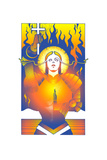 Female Saint Holding Cross Posters by David Chestnutt
