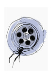 Close Up Drawing of Spider in Sink Plug Hole Print by Ben Tallon