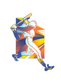 Illustration of Baseball Player Art by David Chestnutt