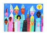 Portrait of Multicultural Group of People Plakat af Chris Corr