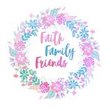Faith, Family, Friends-Pastel Prints by  Color Me Happy