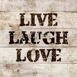 Live Laugh Love In Wood Posters by  Color Me Happy