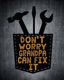 Don't Worry In Black Print by  Color Me Happy