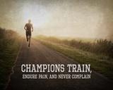 Champions Train Man Color Kunstdrucke von  Sports Mania