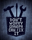 Don't Worry In Blue Posters by  Color Me Happy