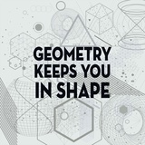 Geometry Keeps You In Shape Light Pattern Prints by  Color Me Happy