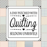 A Day Patched With Quilting - Square Patchwork Posters by  Color Me Happy