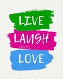 Live Laugh Love-Bold Prints by  Color Me Happy