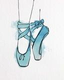 Ballet Shoes En Pointe Blue Watercolor Part III Posters by  Color Me Happy