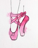 Ballet Shoes En Pointe Pink Watercolor Part III Posters by  Color Me Happy