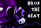 Drop The Beat - Purple and Blue Prints by  Color Me Happy