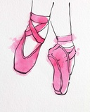 Ballet Shoes En Pointe Pink Watercolor Part II Posters by  Color Me Happy