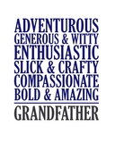 Adjectives for Grandpa Prints by  Color Me Happy