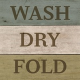 Wash Dry Fold Painted Wood Prints by  Color Me Happy