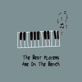 The Best Players Are On The Bench Blue Prints by  Color Me Happy