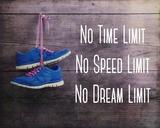 No Time Limit No Speed Limit No Dream Limit Blue Shoes Kunstdrucke von  Sports Mania