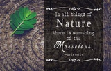 In all things of Nature Poster by  Quote Master