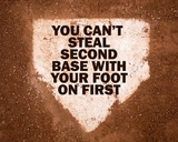 Second Base Prints by  Sports Mania