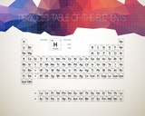 Periodic Table Of The Elements Abstract Low Poly Shape Poster par  Color Me Happy