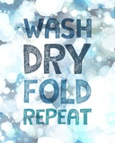 Wash Dry Fold Repeat Bubbles Art by  Color Me Happy