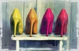 Vintage Fashion Colorful Heels Prints by  Color Me Happy