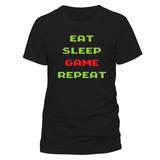 Eat Sleep Game Repeat T-skjorte