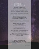 Desiderata Night Sky Poster by  Quote Master