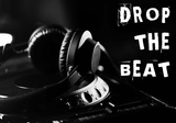 Drop The Beat - Black and White Art by  Color Me Happy