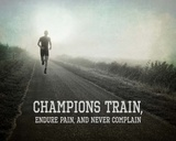 Champions Train Man Black and White Print by  Sports Mania