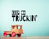 Keep On Truckin' Blue Prints by  Color Me Happy
