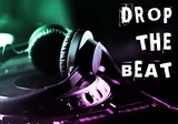 Drop The Beat - Green and Pink Prints by  Color Me Happy
