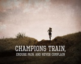 Champions Train Woman Color Posters by  Sports Mania