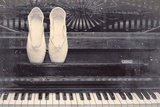 Ballet Shoes And Piano Old Photo Style Dust and Scratches Prints by  Color Me Happy